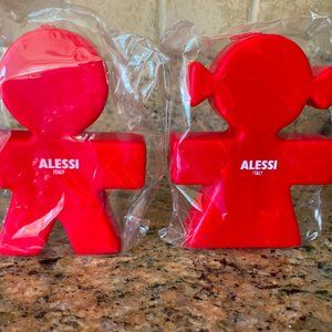 ALESSI Candles Boy and Girl Red